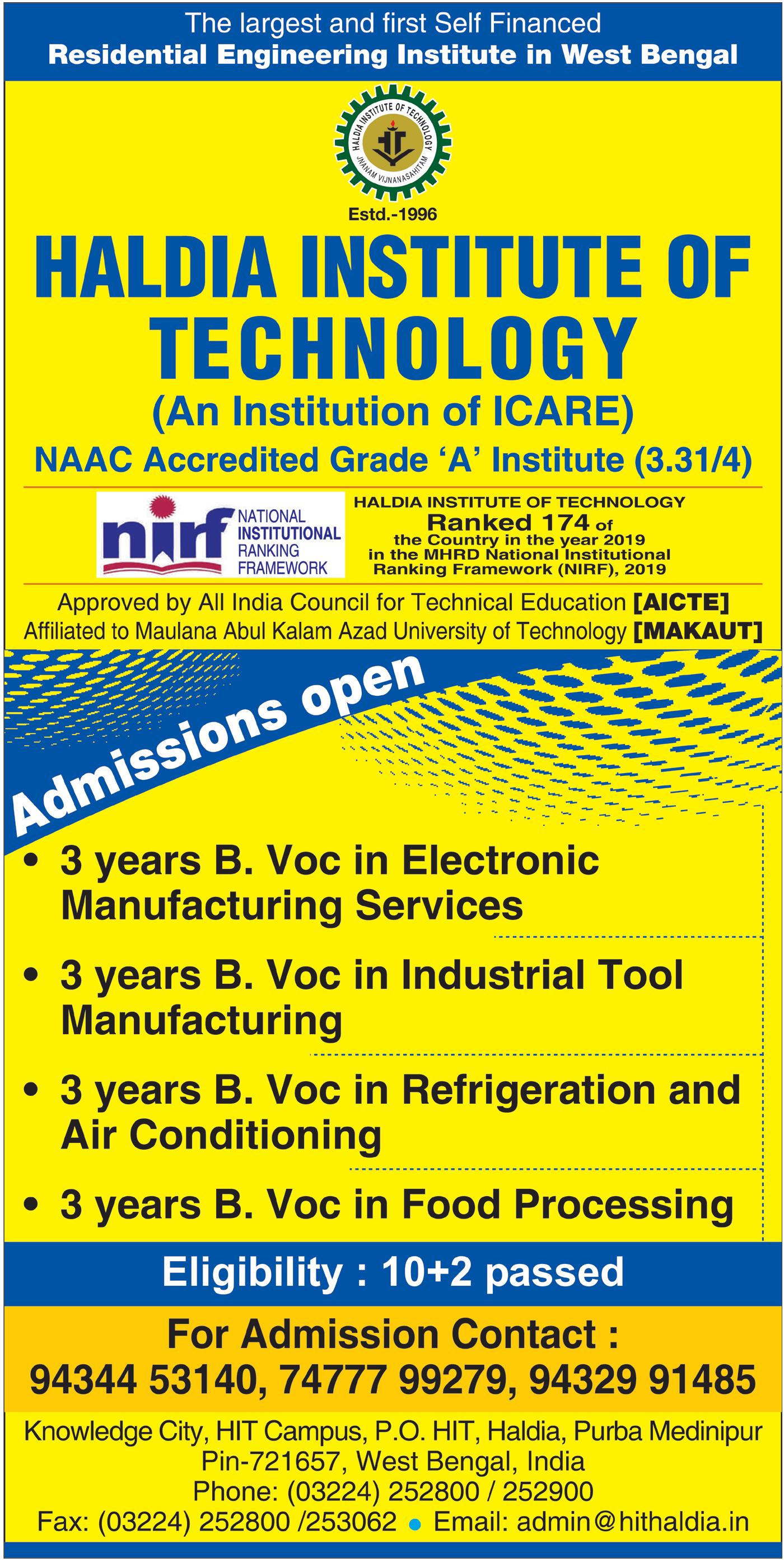 HIT – Haldia Institute Of Technology